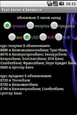 Курсы валют минских банков
