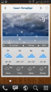 """Панель """"Погода"""""""