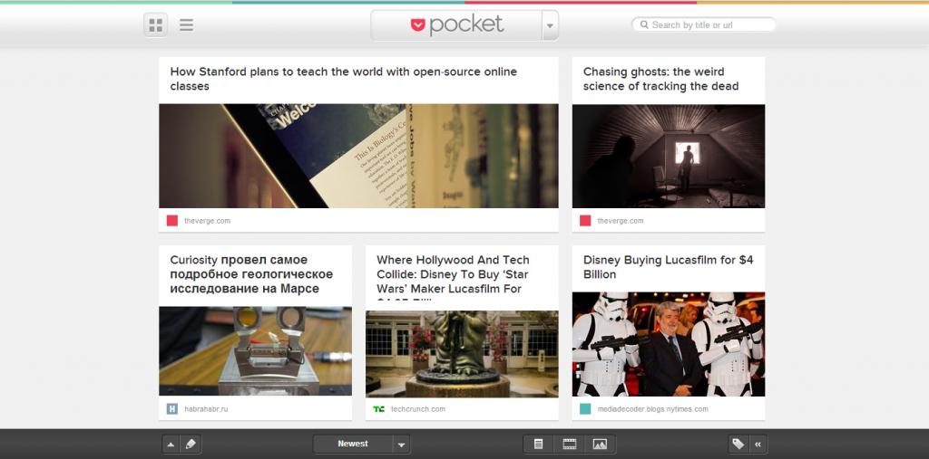 Pocket в браузере