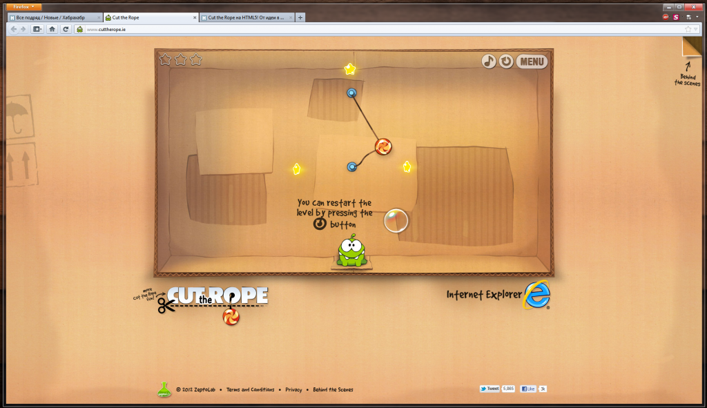 HTML5 Cut the Rope