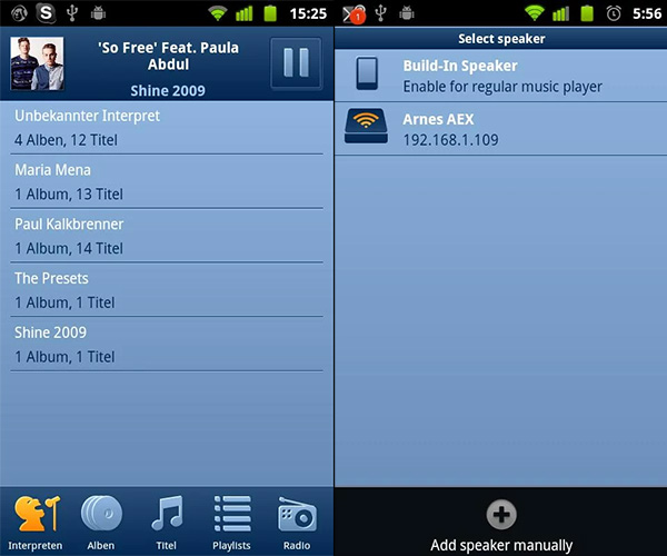 Honey Player - AirPlay с Android