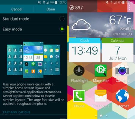 Как активировать Easy Mode на Galaxy S5