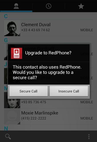 RedPhone: Защищенные звонки