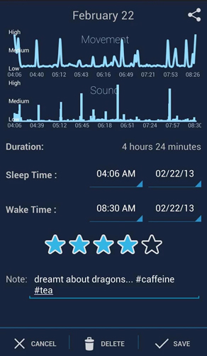 SleepBot – отслеживание цикла сна