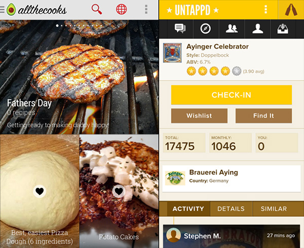 anons100 лучших приложений для Android в 2014 году. Питание и кулинария