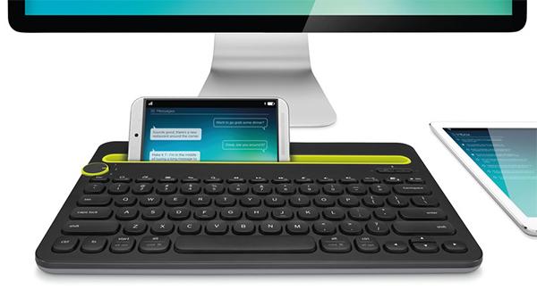 K480 – Bluetooth-клавиатура от Logitech, способная одновременно подключаться к трем устройствам.