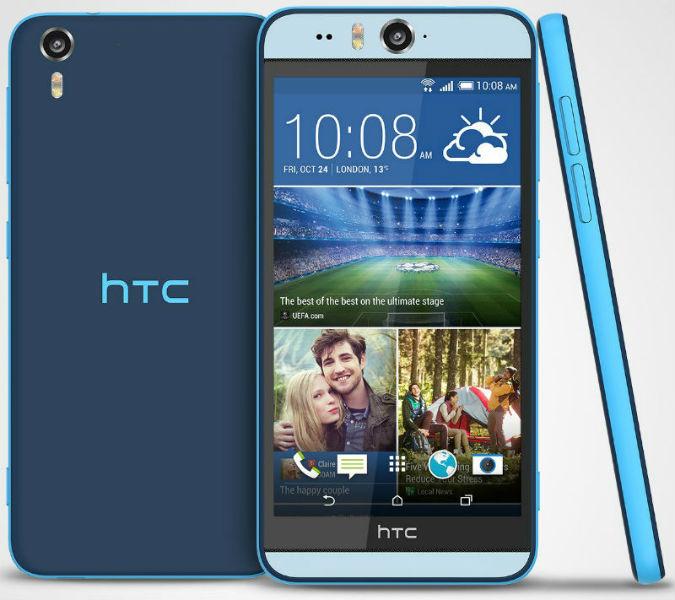 HTC Desire Eye Submarine Blue Stack