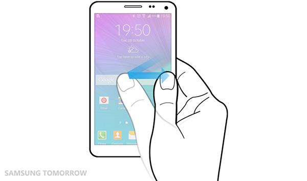 Когда рабочая область экрана уменьшена, ее размер можно настроить так, чтобы вам было удобно работать одной рукой