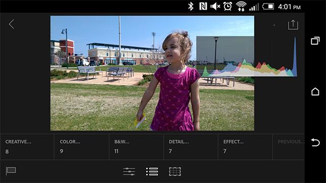 Lightroom Mobile на Android – первый взгляд