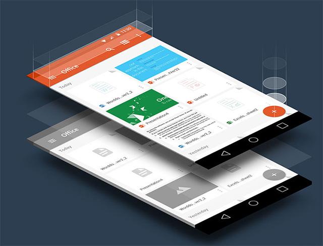 Материальный дизайн для Office 365