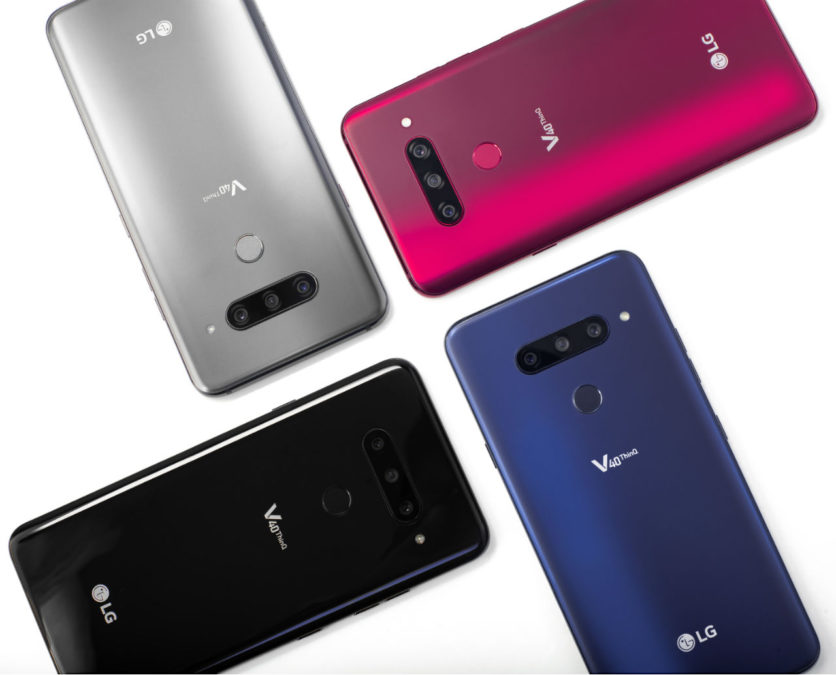 LG introduced a new smartphone with five cameras — LG ThinQ V40
