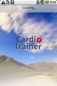 Окно загрузки CardioTrainer