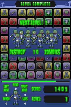 По мере прохождения уровней, увеличивается число зомби, которое необходимо убить.