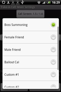 Среди голосов можно подобрать необходимый вариант: требовательный начальник, подружка, друг, либо одна из собственных записей.