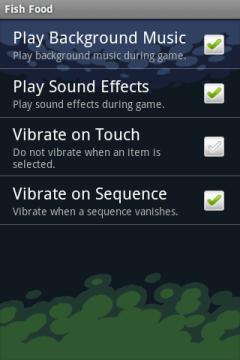 В настройках можно отключить музыку, звук, вибрацию.