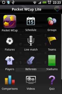 На главном экране пункты меню представлены в виде иконок. Для переход между некоторыми пунктами не обязательно выходить на главный экран.
