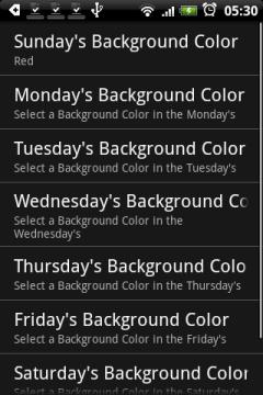 Каждому дню неделю можно присвоить определенный цвет...