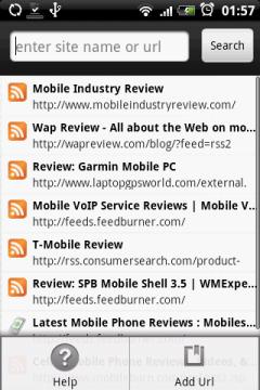 В случае с русскими сайтами, надо будет скопировать ссылку на RSS и ввести ей в строку поиска.