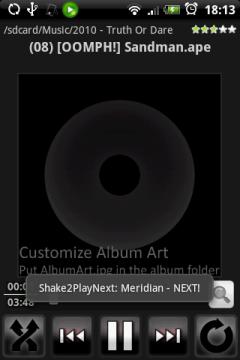Бум, следующий трек; бум, еще один. У меня на HTC Hero Meridian с помощью S2PN начал подчиняться потряхиваниям..