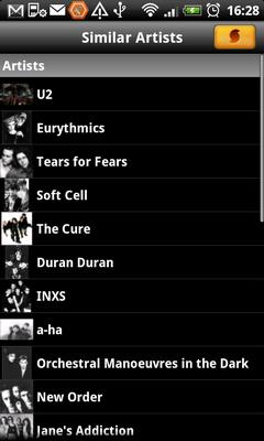 SoundHound считает эти группы похожими на Depeche Mode