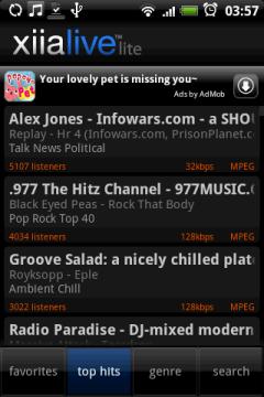 В Tops Hits попадают радиостанции с наибольшим количеством слушателей.