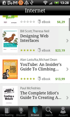 Книжки платные и бесплатные, так выглядит онлайн-магазин Kobo